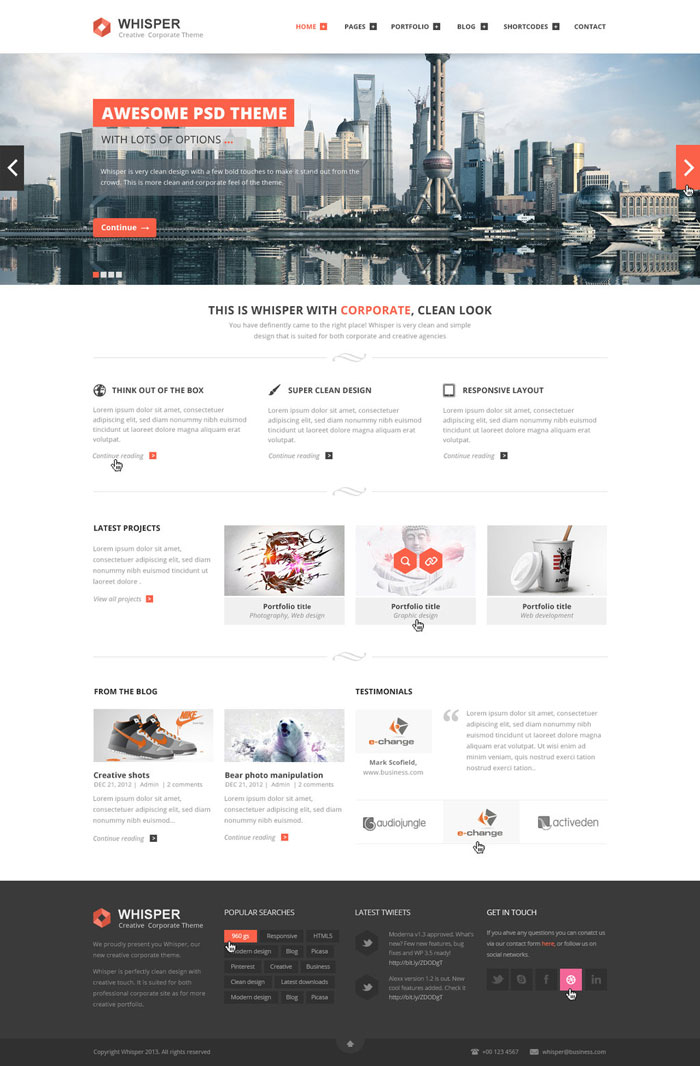 Modern website layout designs for inspiration 22 examples for Architecture site web