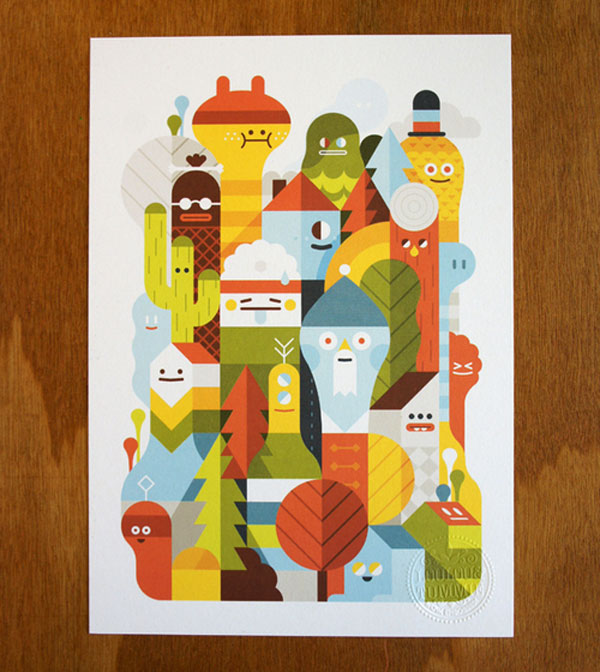 Character City print Netherlands Design Inspiration