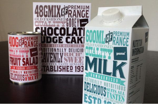 Pams Premium Range Packaging Print Design Inspiration