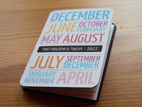 Pocket calendar 2012 Print Design Inspiration