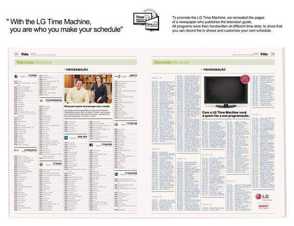 LG --- Ideas de publicidad de la máquina del tiempo: 500 anuncios creativos y geniales