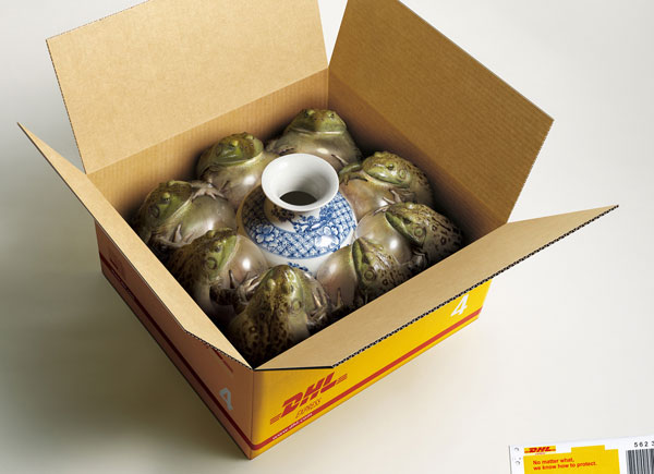 dhl_frogs Advertisement Ideas: 500 anuncios creativos y geniales