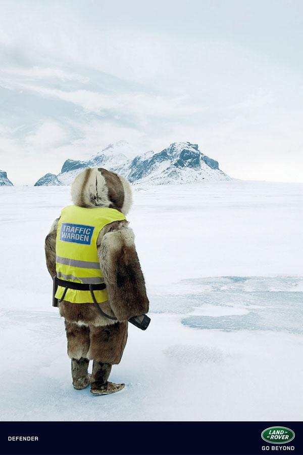 land_rover_defender_landscapes_eskimo Ideas publicitarias: 500 anuncios creativos y geniales