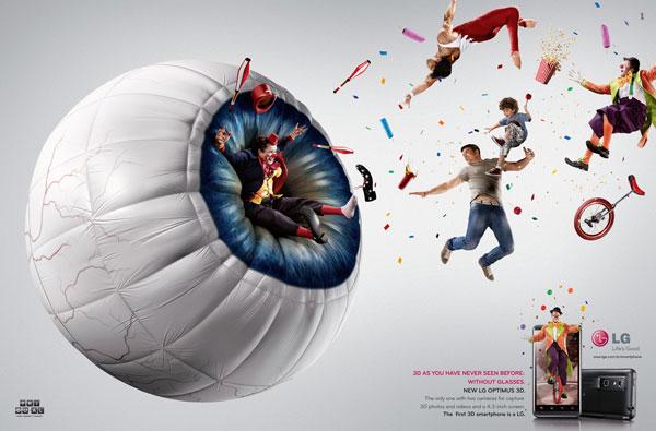 lg_mobile_circus Ideas publicitarias: 500 anuncios creativos y geniales
