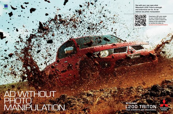 mitsubishi_l200_triton_no_photoshop Publicidad Ideas: 500 anuncios creativos y frescos