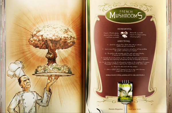 revista_planeta_recipes_french_mushrooms Advertisement Ideas: 500 anuncios creativos y geniales