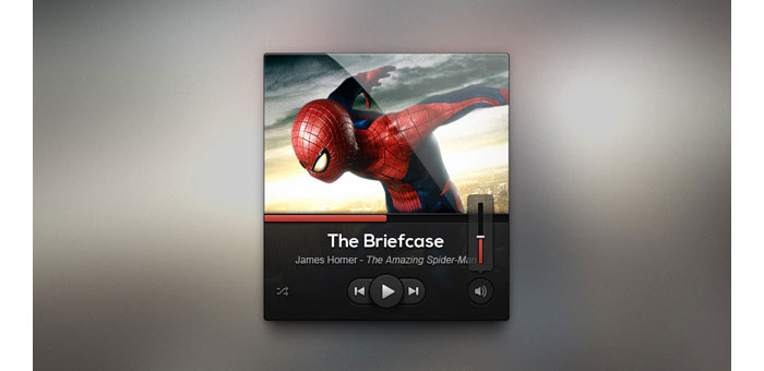Dark UI Music Player Design Psd
