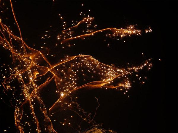 Firework texture