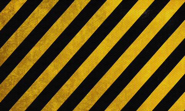 Black and Yellow Warning Lines texture