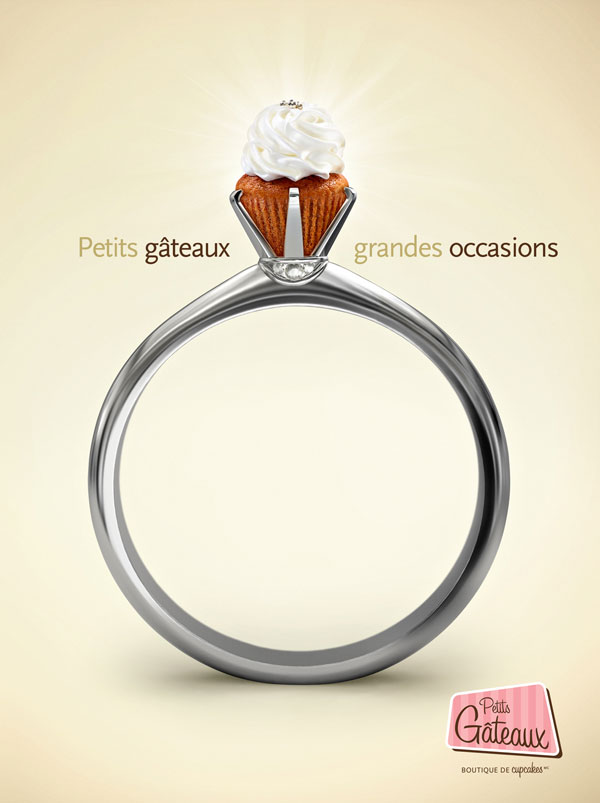 Small Cakes. Big Occasions Print Advertisement