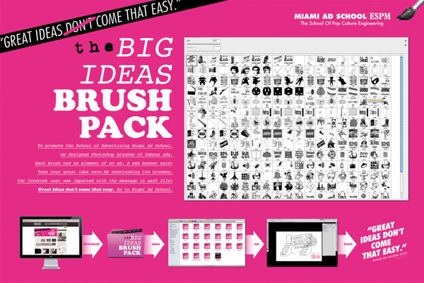 The Big Ideas Brush Pack Print Advertisement