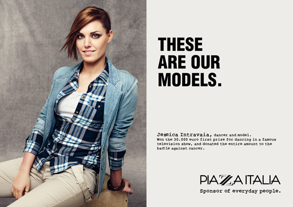 These are our models Print Advertisement