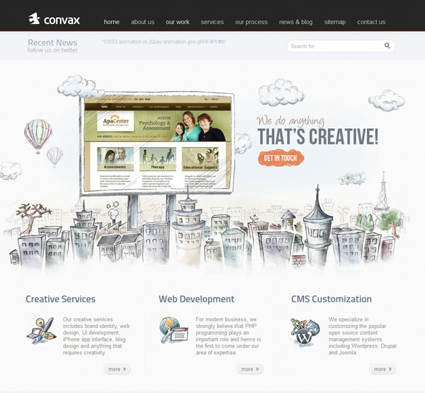 Showcase Of 45 Websites Using The Parallax Scrolling Effect
