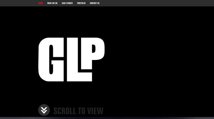 glpcreative.com Parallax scrolling site