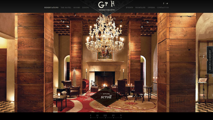 gramercyparkhotel.com Parallax scrolling site