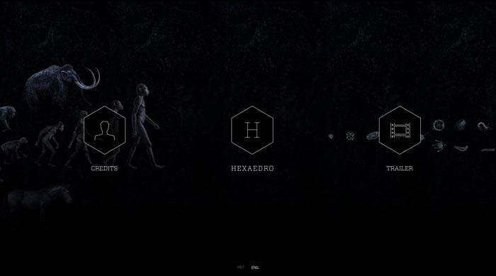 hexaedro.eu Parallax scrolling site