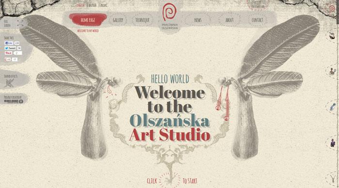 olszanska.pl Parallax scrolling site