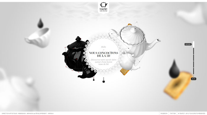 teapot-creation.com Parallax scrolling site
