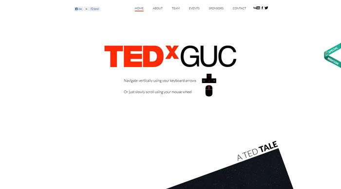 tedxguc.com Parallax scrolling site