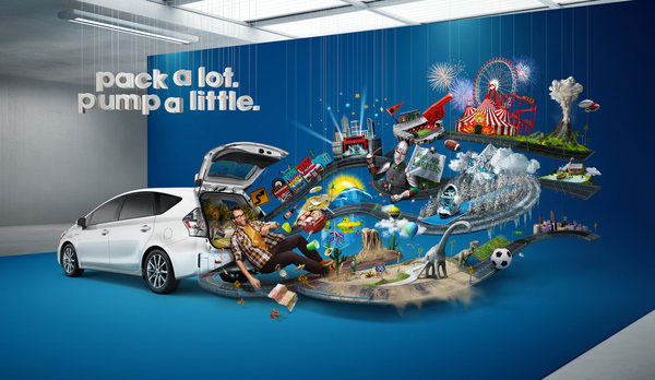 Toyota Prius V campaign Photo Manipulation