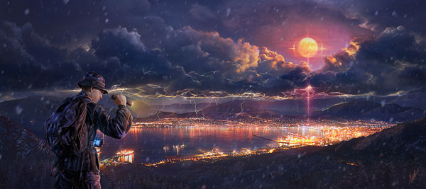 Apocalyptic storm Photo Manipulation