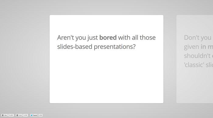 Html presentations