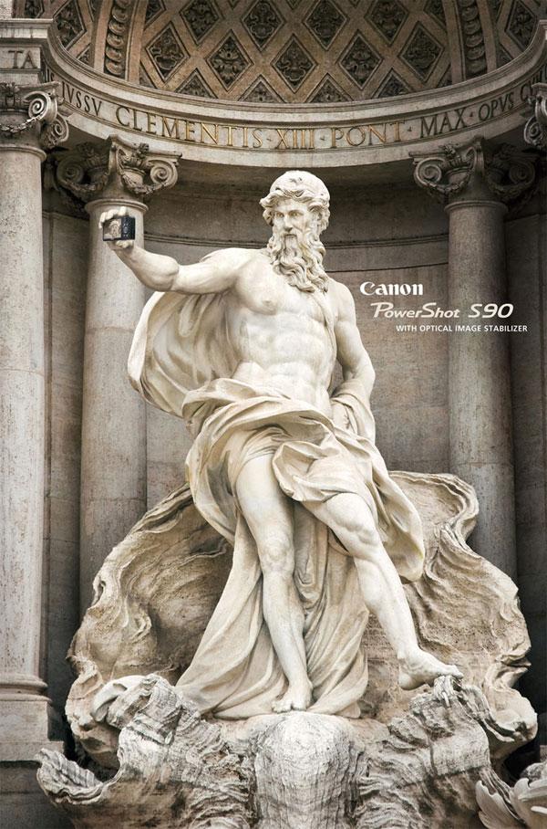 Canon-PowerShot-S90 --- Con estabilizador de imagen óptico Ideas de publicidad: 500 anuncios creativos y frescos