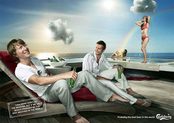 Ideas de publicidad del clima de Carlsberg: 500 anuncios creativos y divertidos