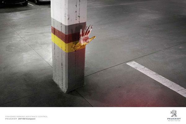 Peugeot --- Standard-Parking-Assistance-Control Ideas publicitarias: 500 creativos y frescos anuncios