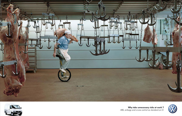 Ideas de publicidad de vehículos comerciales Volkswagen: 500 anuncios creativos y frescos
