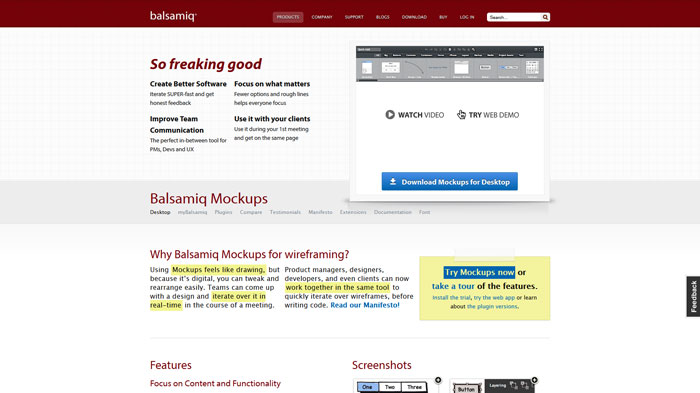 Balsamiq Mockups Wireframing and prototyping tool
