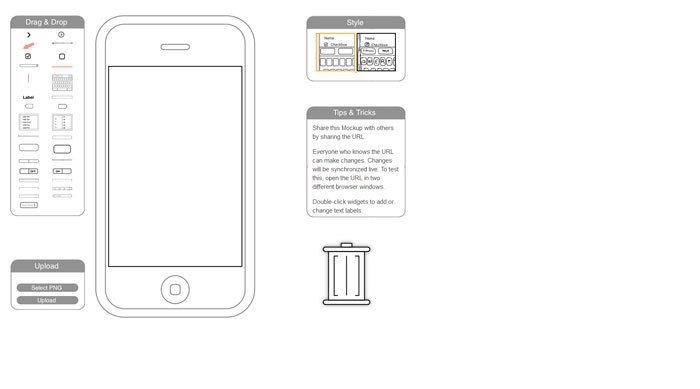 iPhone Mockup Wireframing and prototyping tool