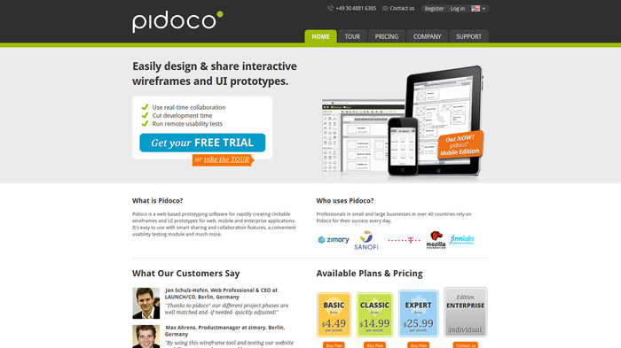 Pidoco  Wireframing and prototyping tool