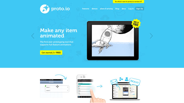 proto.io Wireframing and prototyping tool