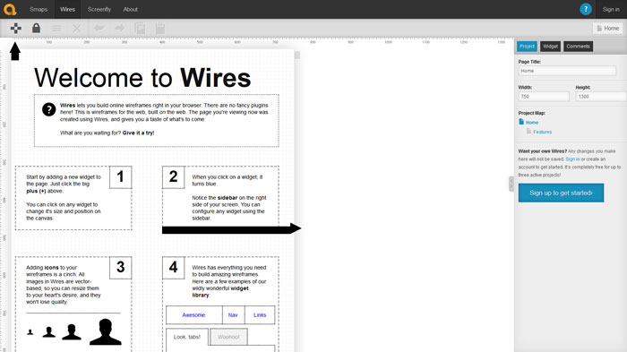 Wires Wireframing and prototyping tool