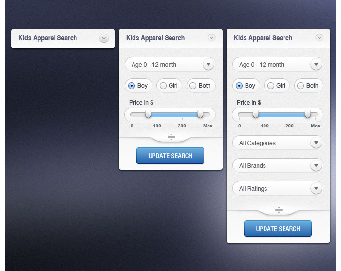 Search Dropdown Design for download