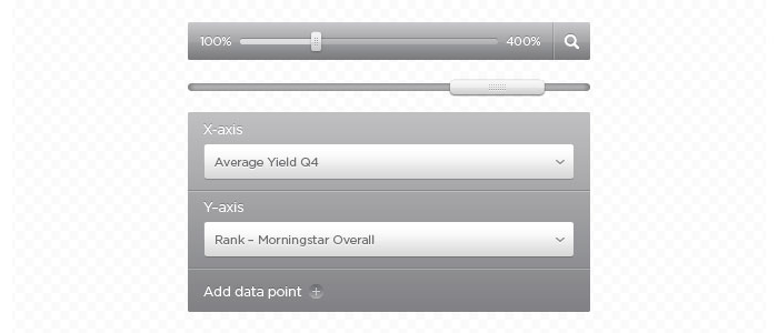 Silver and Gray User Interface Elements Design for download