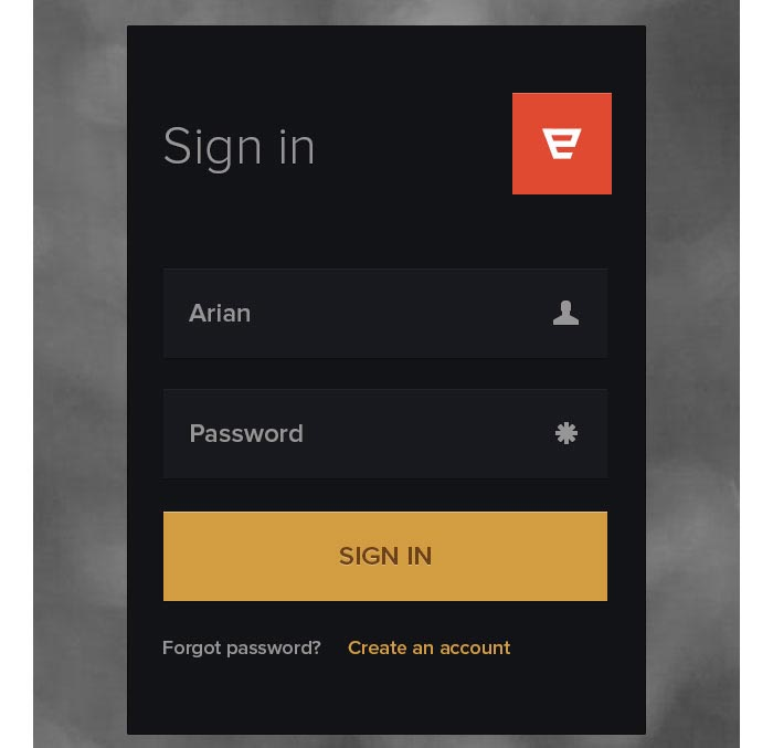 Login Form (PSD) Design for download