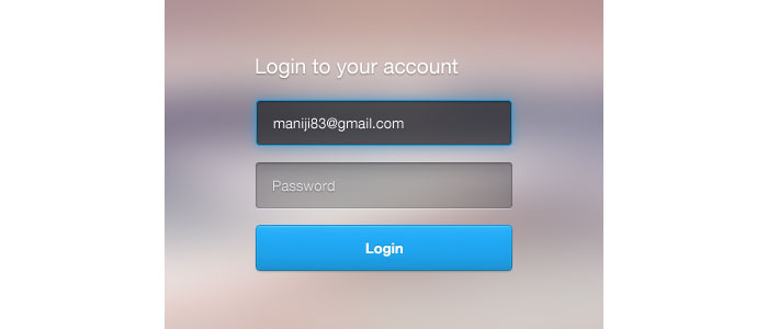 Login Form Design for download