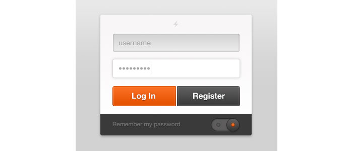 Login Design for download