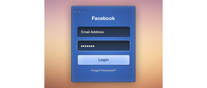 Facebook Login Freebie Design for download