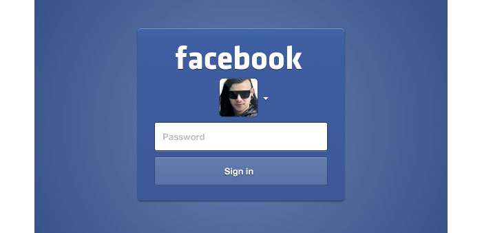 Facebook Login UI Design for download