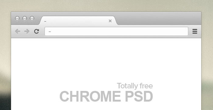 Free PSD - Chrome browserMockup Design