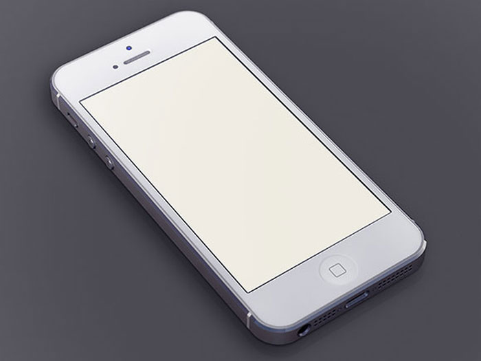 White iPhone5 Template Mockup Design