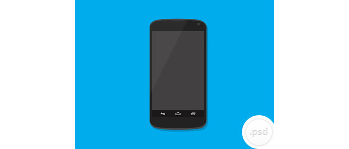 Nexus 4 Vector Mockup Design