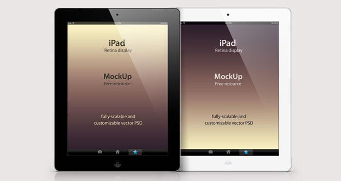 Psd iPad Retina Mockup Template Mockup Design
