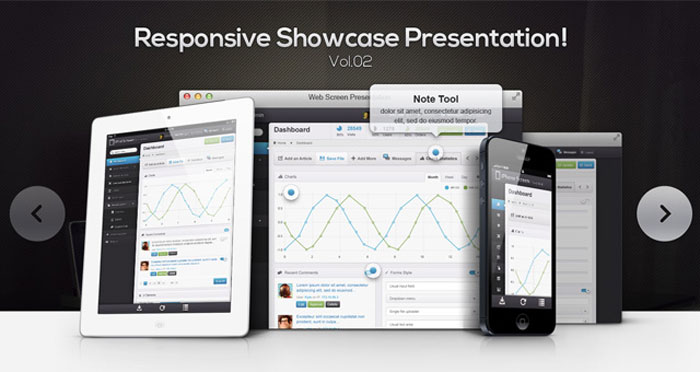 Responsive Showcase Psd Vol2 Mockup Design