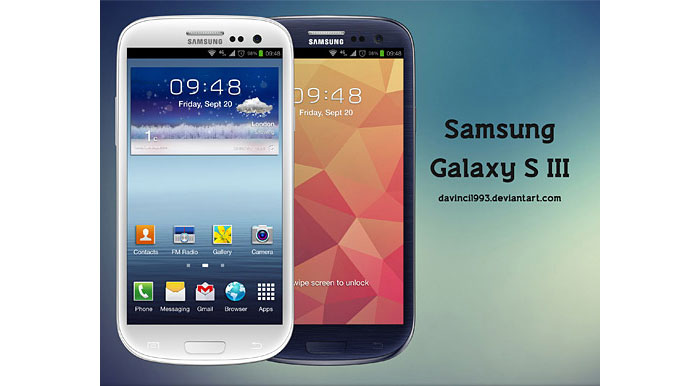 Samsung Galaxy S III Mockup Design