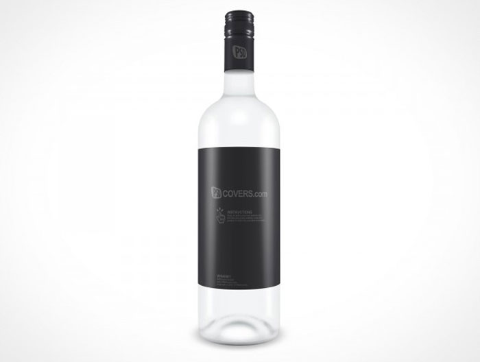 Wine 001 Bottle Mockup Design