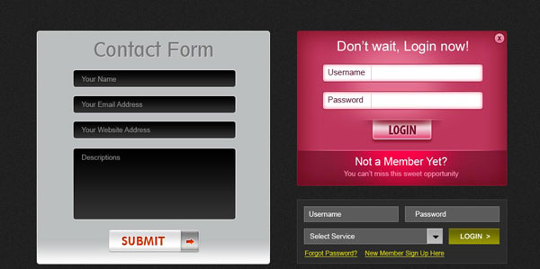 9 beautiful web forms